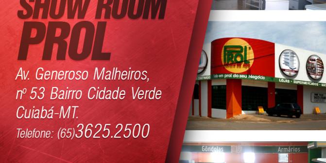 Endereço Show Room Prol Móveis de Aço.