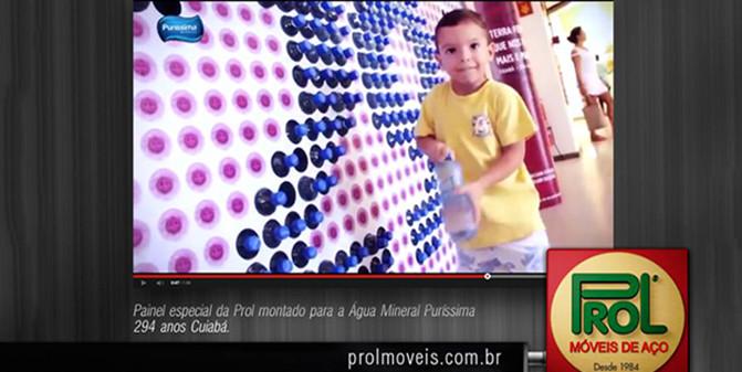 Suporte especial para ação Puríssima. PDV.