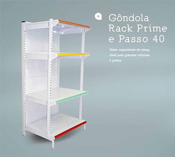 Gôndola Rack Prime e Passo 40