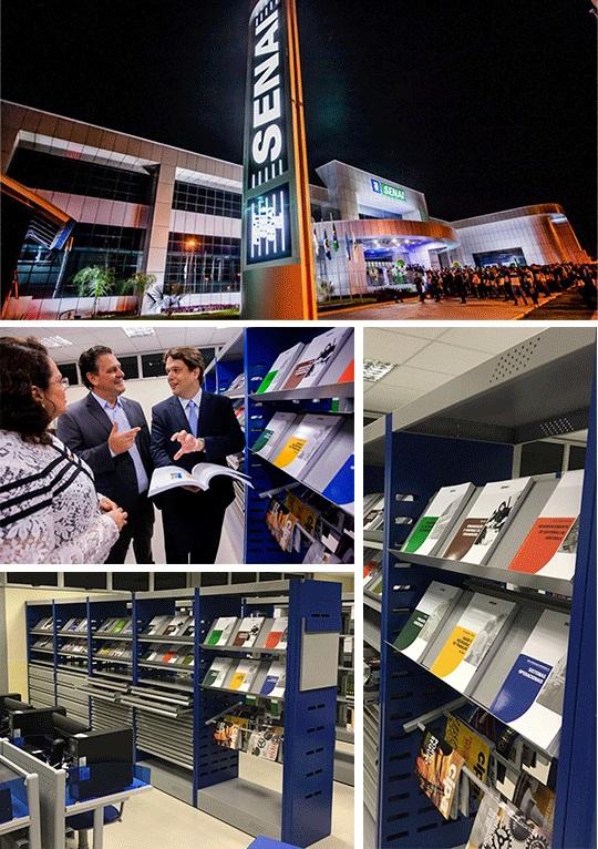 Biblioteca Senai Nova Mutum - Estante para bibliotecas Prol