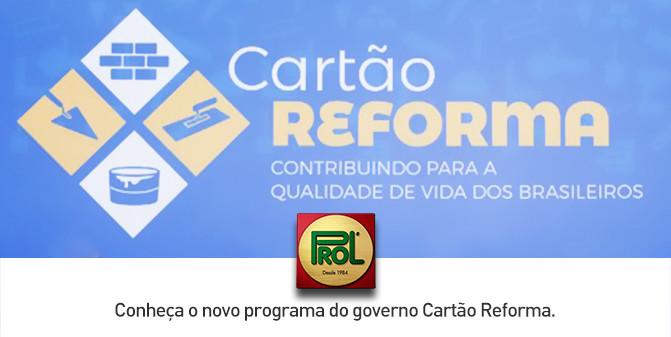 Conheça o Cartão Reforma